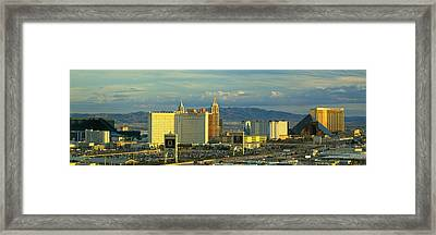 Afternoon The Strip Las Vegas Nv Usa Framed Print by Panoramic Images