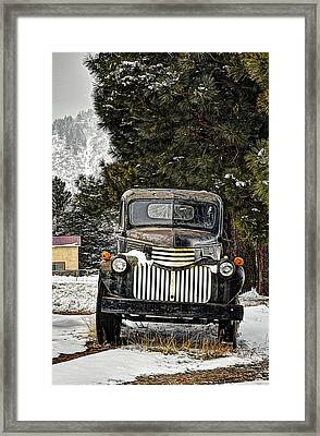 Afther The Snow Falls Verticle Framed Print by Ken Smith