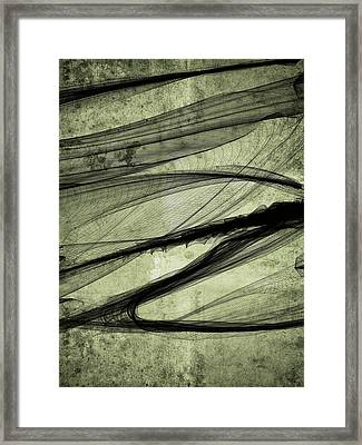 Again The Smokedigital Painting Framed Print by Guillermo De Llera