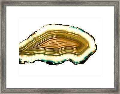 Agate 1 Framed Print