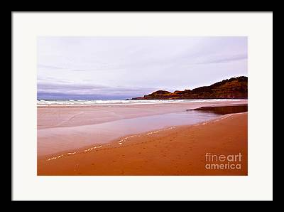 Beach Near Newport Oregon Framed Prints