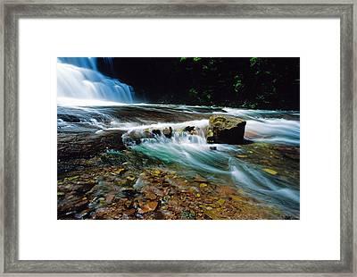 Agate Falls In U.p. Framed Print by Dennis Cox WorldViews