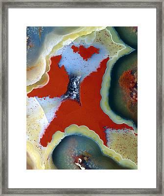 Agate Lava Geode Framed Print