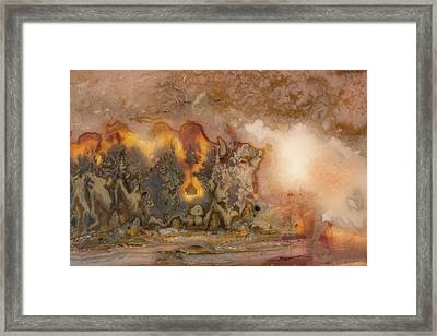 Agate Texture And Form Framed Print by Leland D Howard