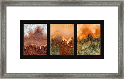 Agate Triptych 3 Framed Print by Leland D Howard