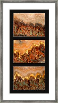 Agate Triptych 4 Framed Print by Leland D Howard