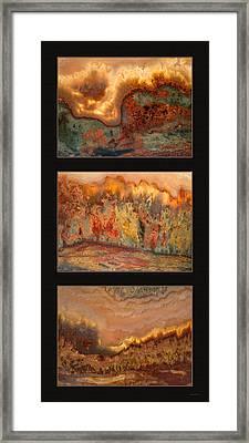 Agate Triptych 7 Framed Print