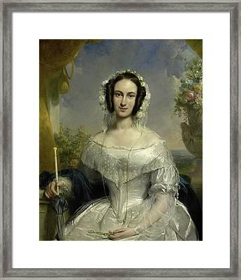 Agatha Petronella Hartsen 1814-78 Framed Print