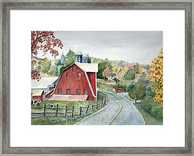 Pennsylvania - Agawam Barn Framed Print