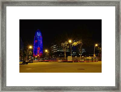 Agbar Tower At Night Framed Print by Ioan Panaite