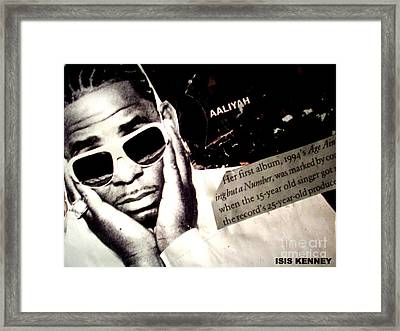 Age Aint Nothing But A Number Framed Print by Isis Kenney