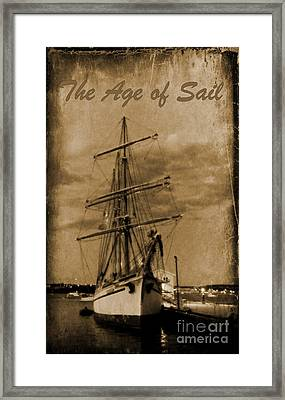 Age Of Sail Poster Framed Print by John Malone Halifax photographer