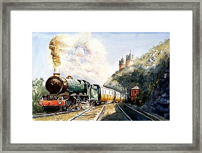 Framed Print featuring the painting Age Of Steam by Steven Ponsford
