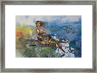Agean Sea Mermaid Framed Print
