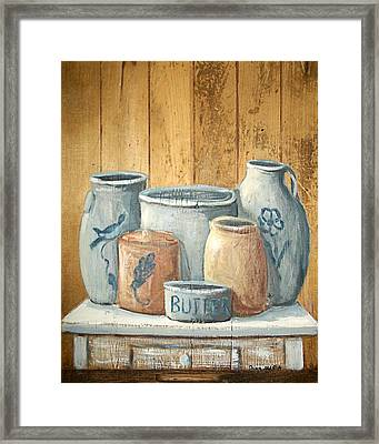 Aged Stoneware Framed Print by Dona Maria Brown