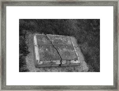 Framed Print featuring the photograph Aged Tombstone by Ryan Crouse
