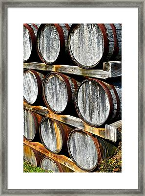 Aged Wine Framed Print by Frozen in Time Fine Art Photography