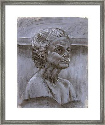 Aged Woman Framed Print