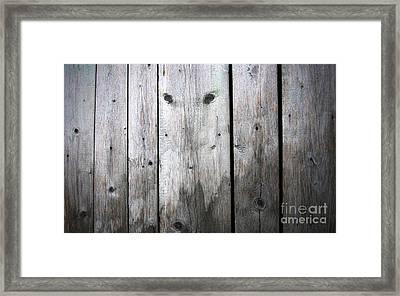 Aged Wood Boards Framed Print by Jolanta Meskauskiene