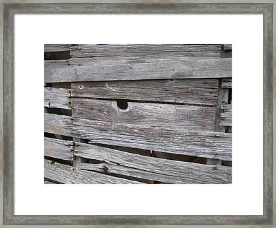Aged Wood Framed Print by Crow River North Photography