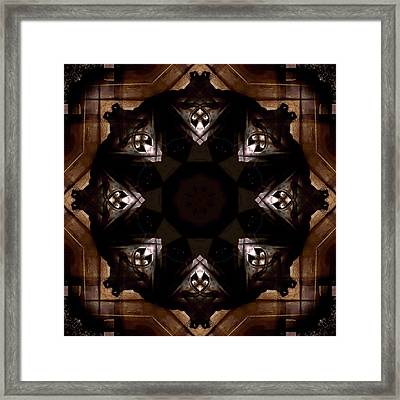 Aged Wood Kaleidoscope Framed Print by Jim Finch