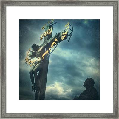 Agfacolor Jesus Framed Print