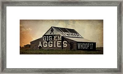 Aggie Barn 4 - Whoop Framed Print by Stephen Stookey