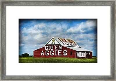 Aggie Barn 3 - Gig Em Framed Print