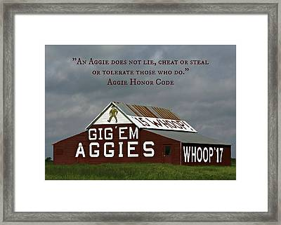 Aggie Honor Framed Print