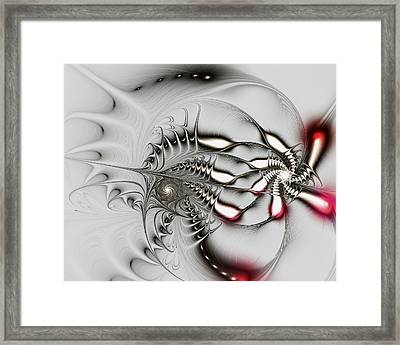 Aggressive Grey Framed Print by Anastasiya Malakhova