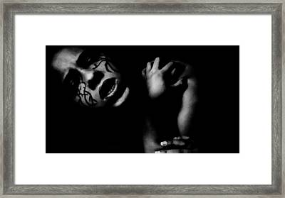 Aggressive Framed Print by Jessica Shelton