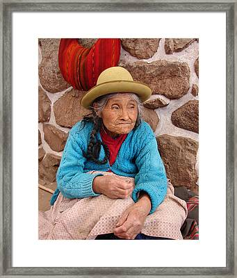 Aging Beautifully Framed Print by Ramona Johnston
