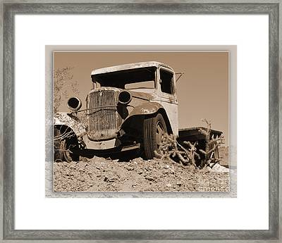 Aging Ford Framed Print by Renie Rutten