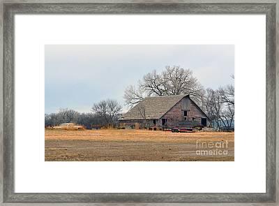 Aging Red Barn Framed Print