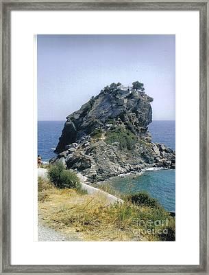 Agios Ioannis Sto Kastraki Framed Print by Katerina Kostaki