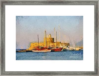 Agios Nikolaos Lighthouse Framed Print by George Atsametakis
