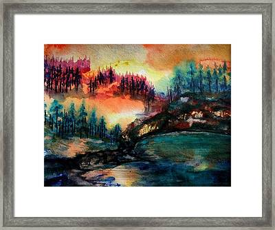 Aglow Framed Print by Kim ShuckhartGunns