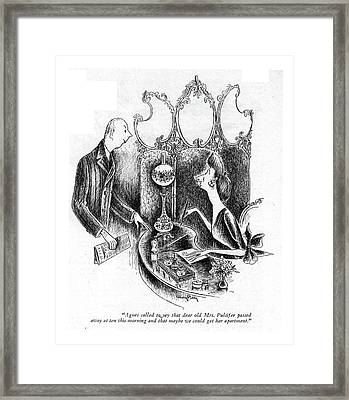 Agnes Called To Say That Dear Old Mrs. Pulsifer Framed Print