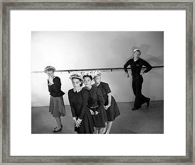 Agnes De Mille's Young Dancers Modeling Suits Framed Print by Horst P. Horst