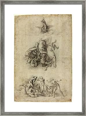 Agnolo Bronzino Or Giulio Clovio After Michelangelo Framed Print by Litz Collection