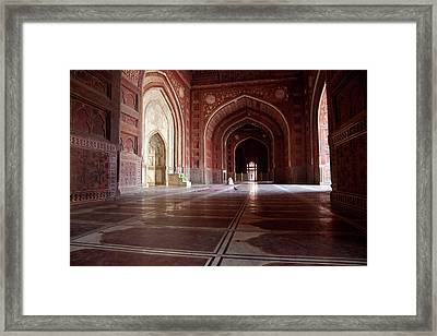Agra, India Interior Of The Taj Mahal Framed Print by Charles O. Cecil