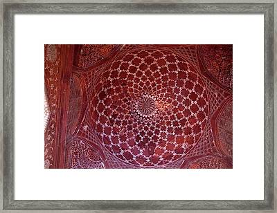 Agra, India Taj Mahal Mosque Interior Framed Print by Charles O. Cecil