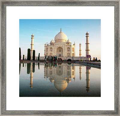 Agra, India The Taj Mahal Composite Framed Print by Janet Muir