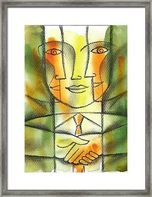 Agreement Framed Print by Leon Zernitsky