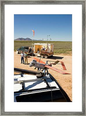 Agricultural Aerial Drone Survey Framed Print by Stephen Ausmus/us Department Of Agriculture