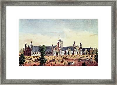 Agricultural Hall, Grand United States Centennial Exhibition, Fairmount Park, Philadelphia Framed Print by American School