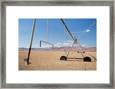Agricultural Irrigation Equipment Framed Print
