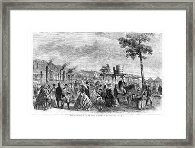 Agricultural Show, 1861 Framed Print by Granger