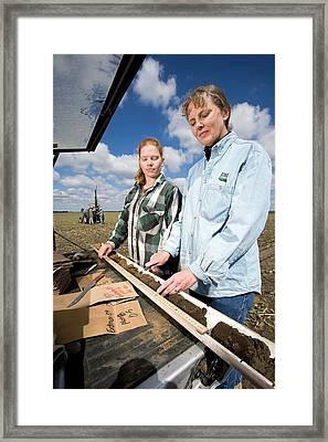 Agricultural Soil Sampling Framed Print by Stephen Ausmus/us Department Of Agriculture