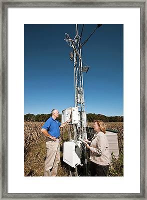 Agricultural Weather Station Framed Print